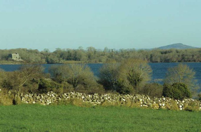 Castle Carra seen from Kilkeeran by Lynda Huxley