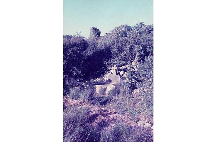 George Moore's grave, Castle Island, August 1975 by Jonathan Shackleton