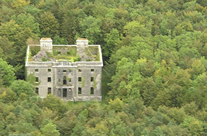 Aerial photograph of Moorehall, taken in 2008 by Sean Nester, Belcarra