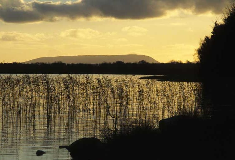 Mount Gable from Lough Carra in Evening Light by Lynda Huxley