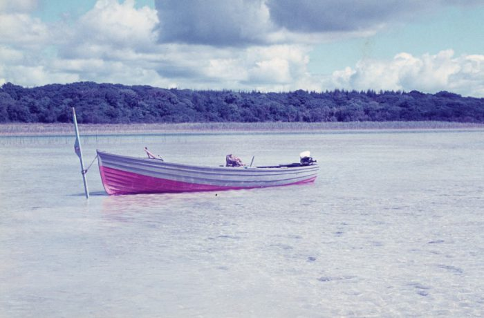 Shackleton's work boat, August 1975 by Jonathan Shackleton