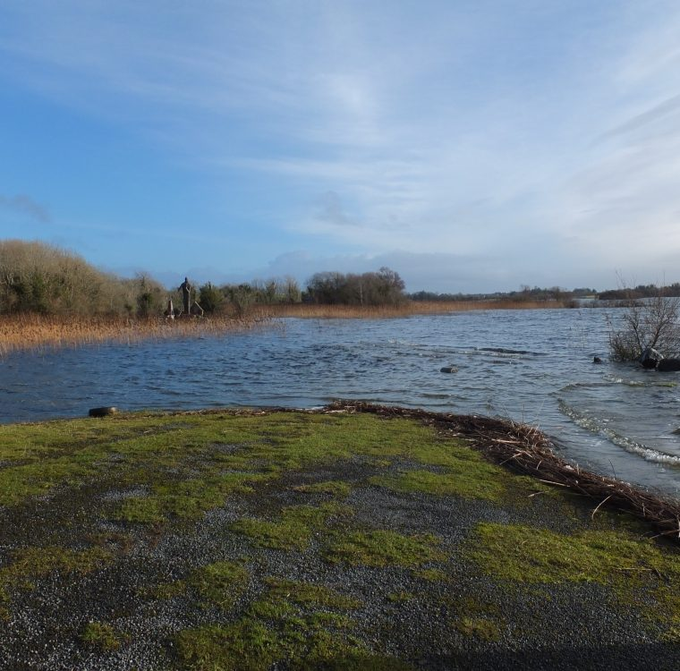 2 January 2014 – Castle Burke: jetty under water following high rainfall in December 2013 By Chris Huxley