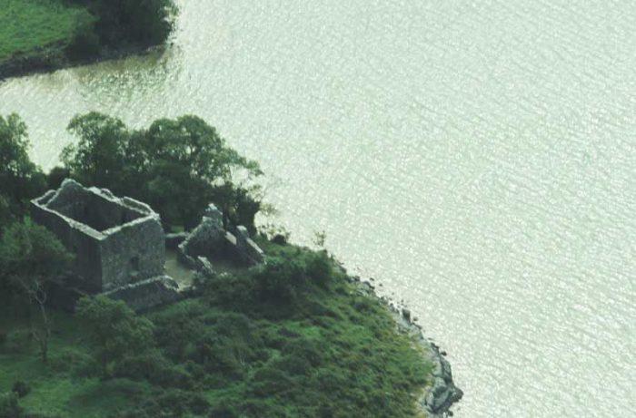 Castle Carra Aerial View by Lynda Huxley