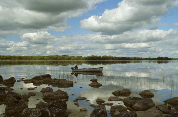 Fisherman on Carra by Lynda Huxley