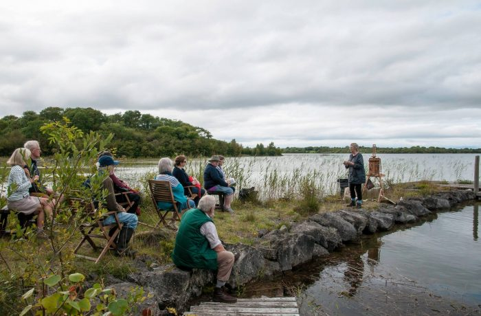Dierdre Walsh on the shores of Lough Carra