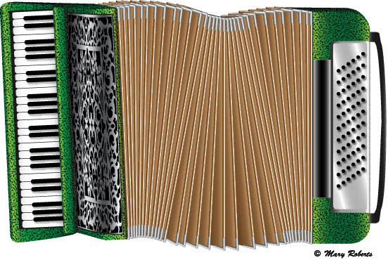 Piano Accordion by Mary Roberts