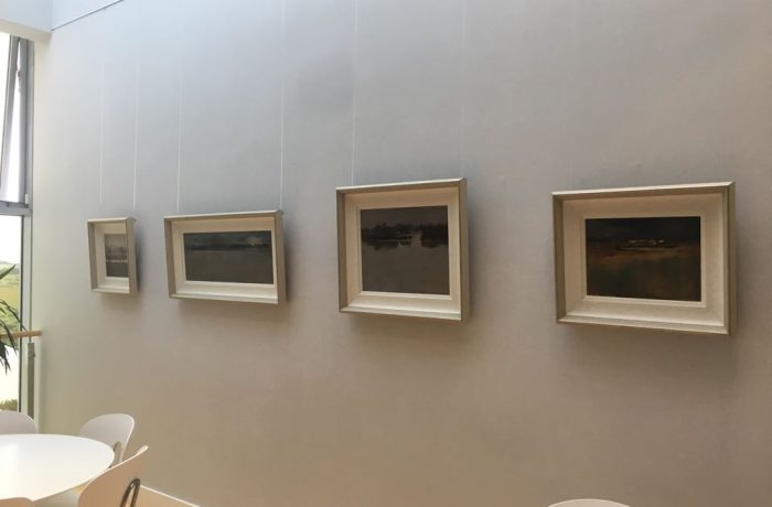 Paintings by Dierdre Walsh at the Ballycroy Visitor Centre Exhibition